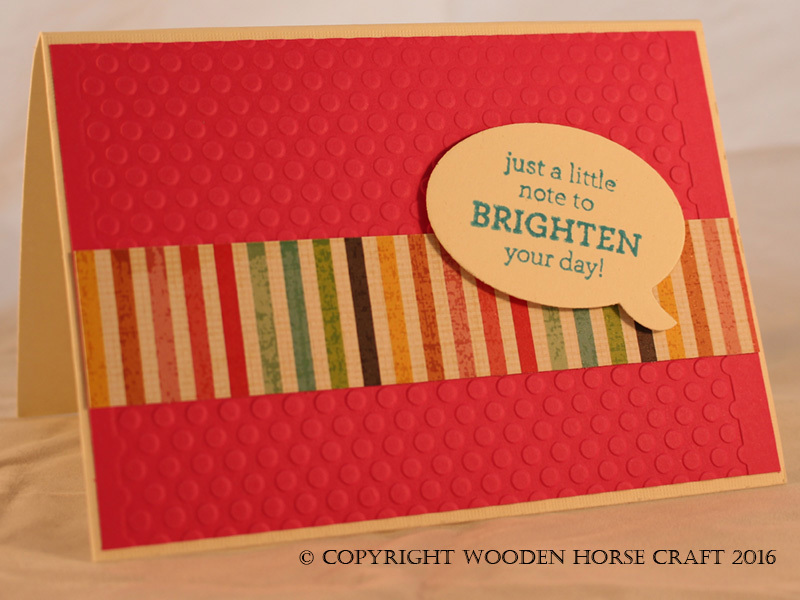 Card: Just a Note brightenday_pink_stripe