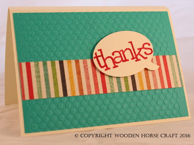 Card: Thank you thankyou_ocean_stripe
