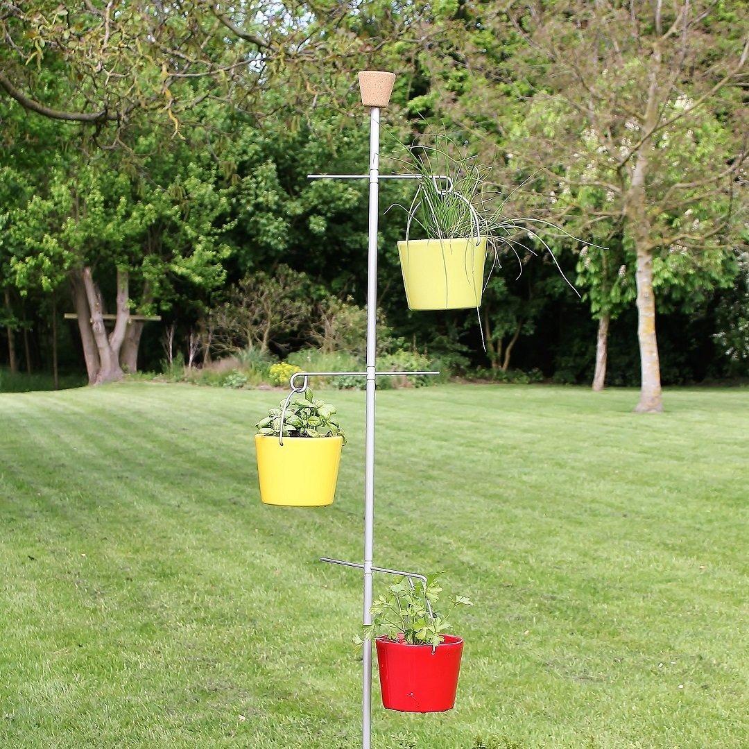 Mobiel kruidenstation Smart Herbs met 4 haken | H 240 cm