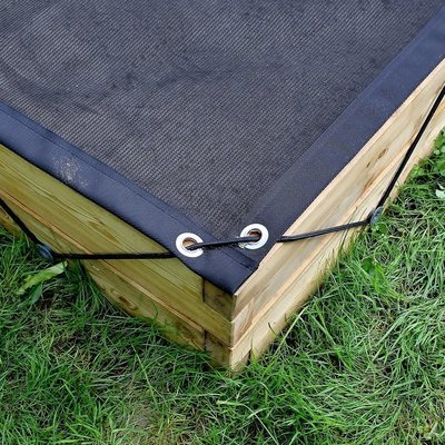 Gaasnet afdekking voor XXL houten zandbak | L 210 x B 210 x H 25 cm