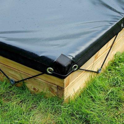 Waterdicht zeil voor XXL houten zandbak | L 210 x B 210 x H 25 cm