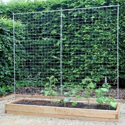 XXL modulaire houten plantenbak | L 210 x B 57 x H 25 cm