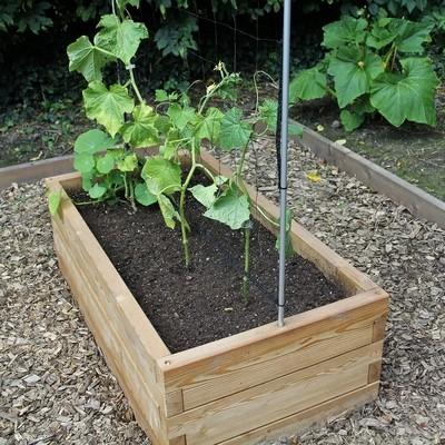XL modulaire houten plantenbak | L 107 x B 57 x H 25 cm