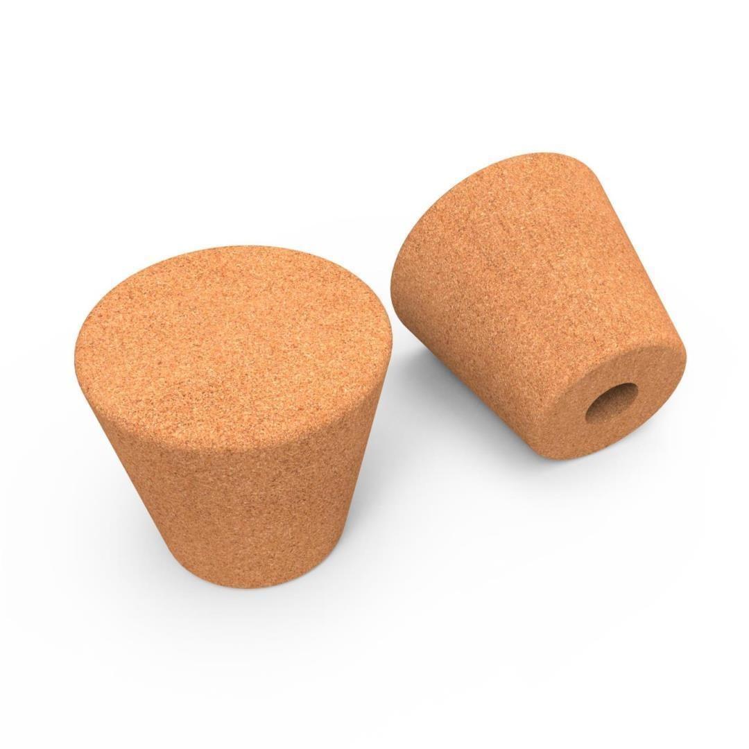 Set van 4 decoratieve eindstukken Smart Cone   H 4,6 cm
