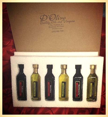 """D'Olivo """"Some Like It Hot"""" Grab & Go Gift Pack- 6, 60 ml bottles gift-Hot"""