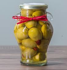 Garlic & Red Chili Stuffed Olives Gordal
