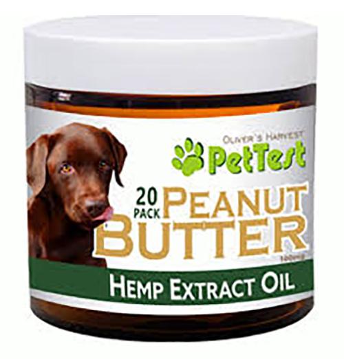 Pet Test CBD 100mg Peanut Butter Treats 21182