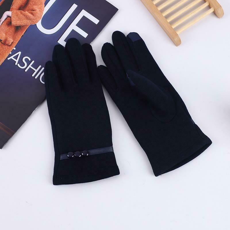Women Touch Screen Winter Autumn Warm Wrist Driving Windproof Gloves