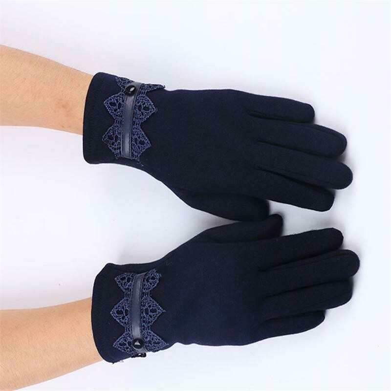 Women Touch Screen Thermal Winter Gloves Driving Ski Windproof Glove