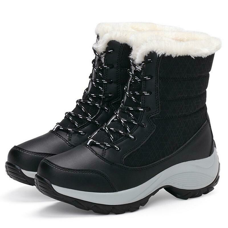 Women's Fashion Winter Warm Casual Outdoor Ankle Snow Boots Plus Size