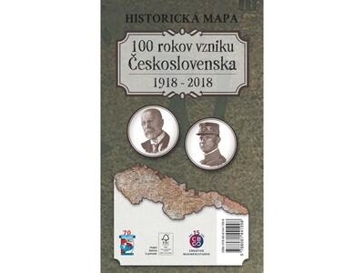 Historická mapa 100 rokov vzniku Československa