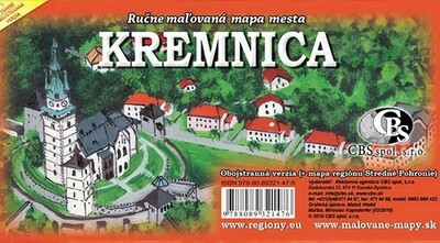 MAPA mesta Kremnica (obojstranná)