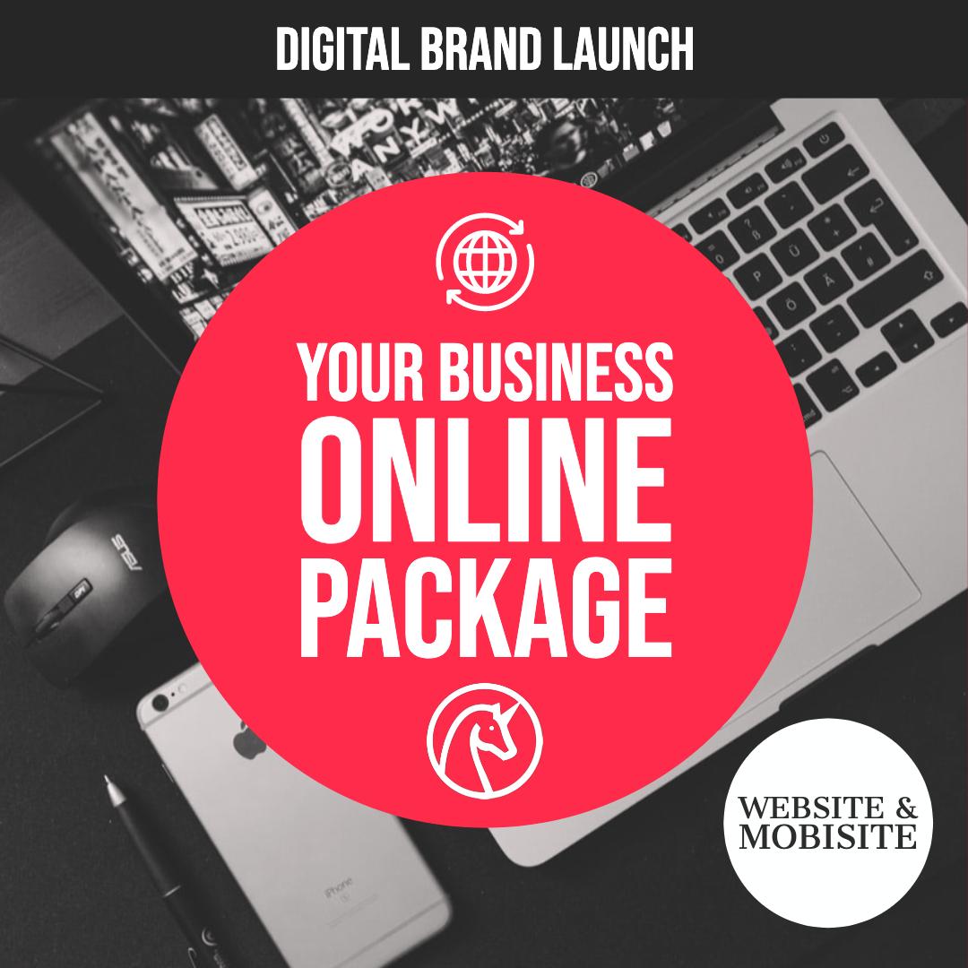 Digital Brand Setup: Website & Mobisite + Social Media Pages.