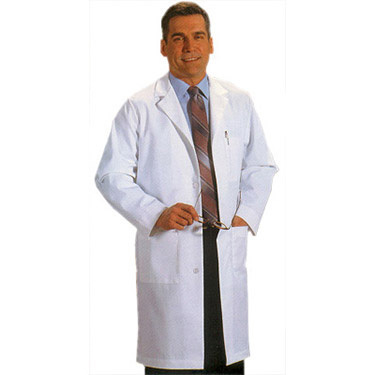 Men's 5-Pocket Twill Lab Coat
