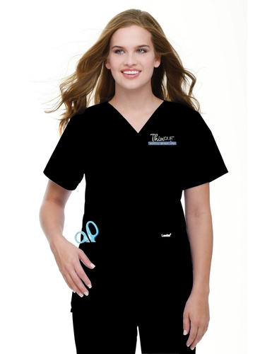 Women's 4 Pocket V-Neck Classic Fit Solid Scrub Top