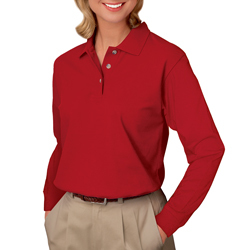 Women's Long Sleeve Pique Polo