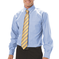 BG8214 - Men's Long Sleeve Oxford with Stain Release