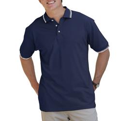 Men's Striped Collar / Sleeve Polo