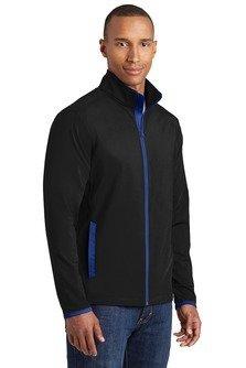 ST853 Sport-Tek® Sport-Wick® Stretch Contrast Full-Zip Jacket