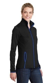 LST853 Sport-Tek® Sport-Wick® Stretch Contrast Full-Zip Jacket
