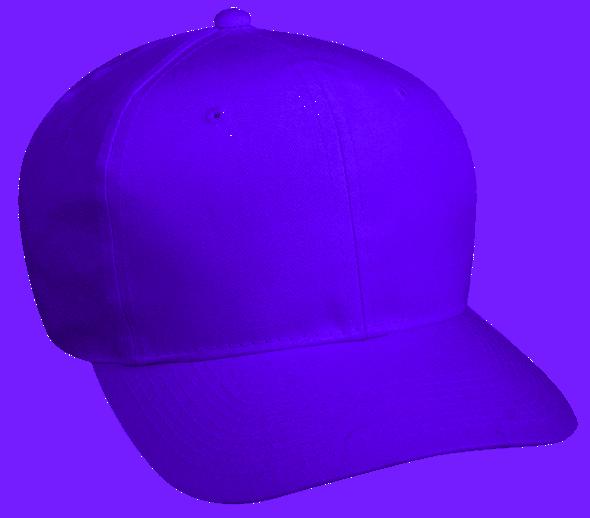 6 Panel High Profile Cotton Twill Purple