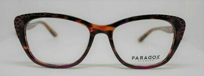 PARADOX COLLECTION Eyeglasses P5012 53-17-140 010 Marbled Fushia, Brown & Black