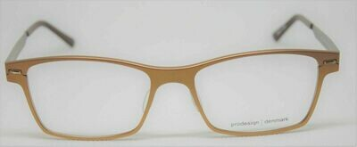 NEW PRODESIGN DENMARK 6911 c.4621 Copper-Orange EYEGLASSES FRAME 54-17-140