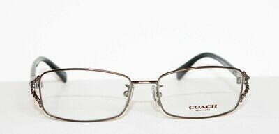 COACH 5073 eyeglass in Black Dark Silver 9017 54-16-135 NEW/AUTHENTIC