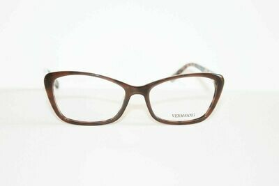VERA WANG Eyeglasses V384 Brown 53-16-137 Authentic and New
