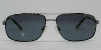 New Stetson Men's Polarized Sunglasses SU8205P Gunmetal- large 59-15-145 Case