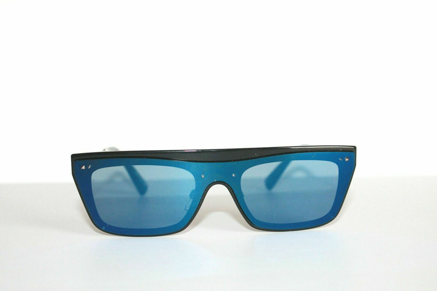 Valentino Blue Black VA4016 Silver Metal 140mm Unisex Sunglasses