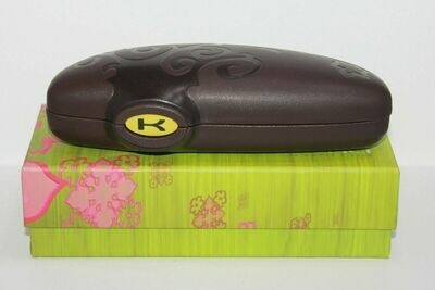 NEW Koali clamshell eyeglass case with cleaning cloth