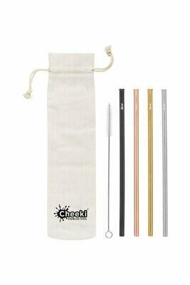Cheeki Straight Straw 4 Pack – Mixed Colour