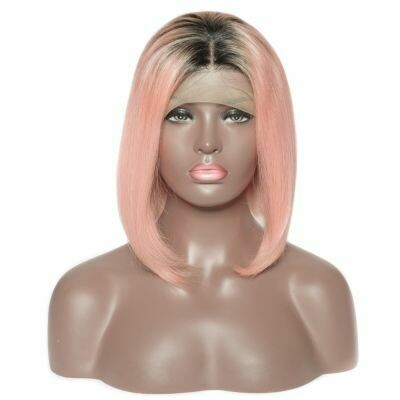 """Nicole"" Colored Human Hair Wig"
