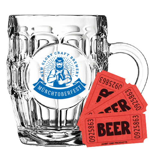 Stein + 3 Beer Tickets