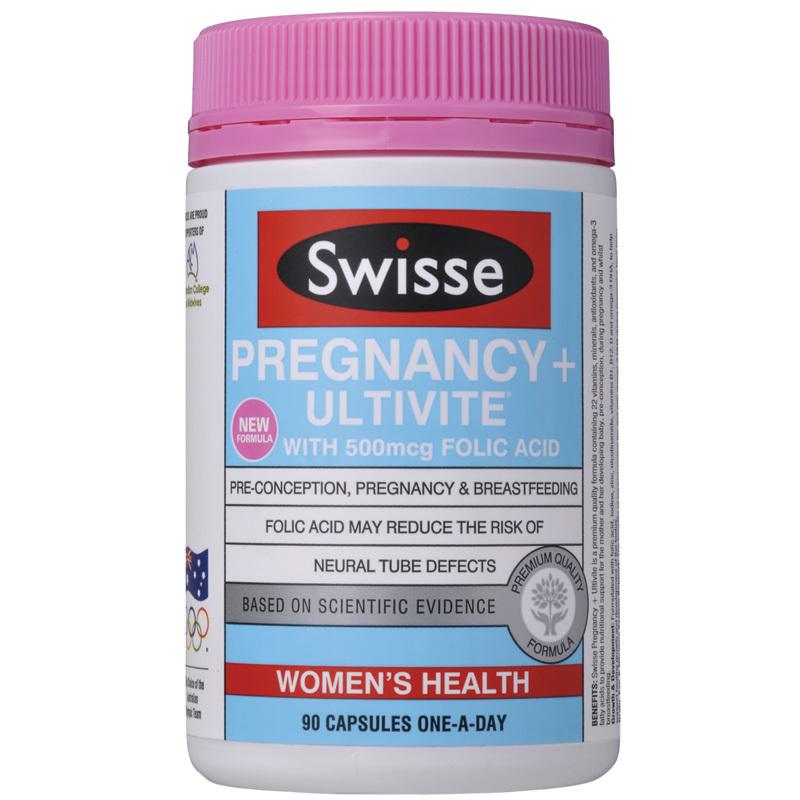 Swisse Pregnancy + Ultivite 90 Capsules