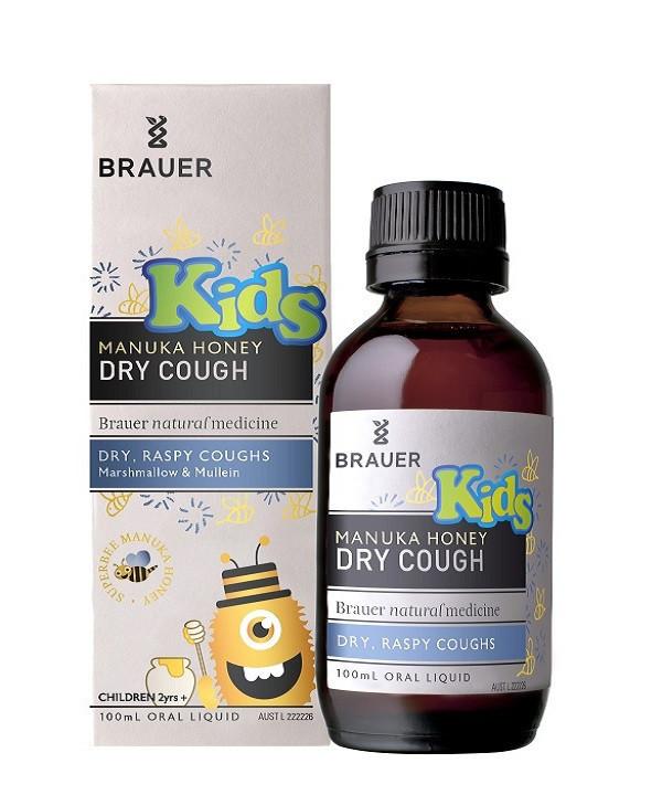 Brauer Kids' Manuka Honey Dry Cough 100mL