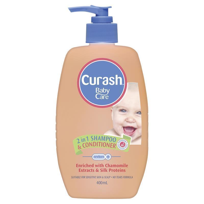 Curash Baby 2 in 1 Shampoo & Conditioner 400ml