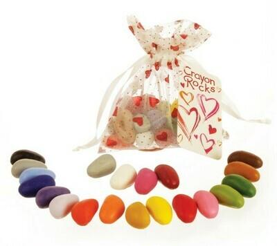 Мелки-камушки восковые, набор 20 цветов