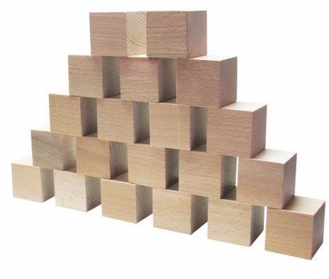 Кубики деревянные неокрашенные