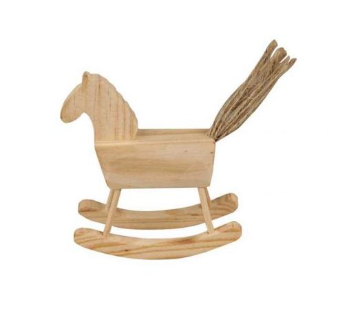 Лошадка-качалка деревянная (10 см)