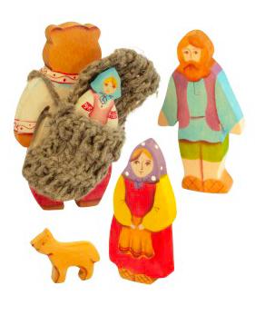 Маша и медведь (5 фигурок)