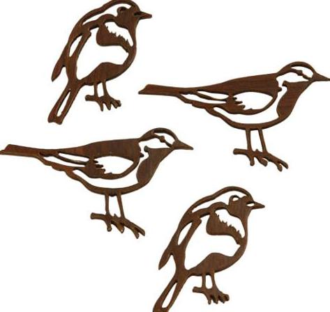 Силуэт птички - 2 штуки (3 х 4 см)
