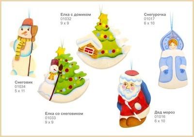 Елочная игрушка Елочка со Снеговиком,  Сказки Дерева