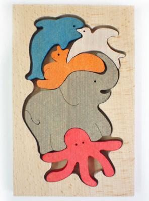 Деревянный паззл-балансир