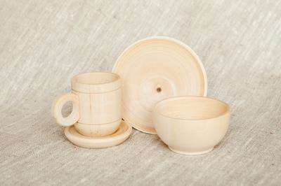 Набор деревянной посуды (4 предмета)