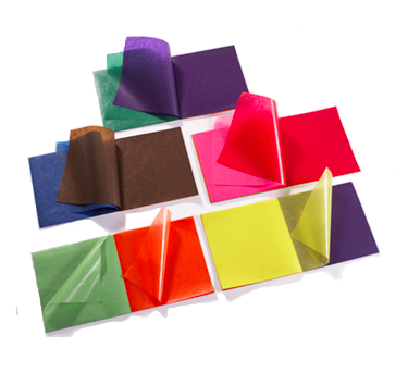 Бумага витражная, 16*16 см ассорти 5 блоков по 100 листов (Меркуриус)