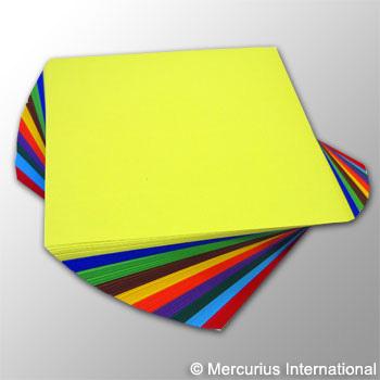 Бумага для поделок плотная цветная ассорти - 20*20 см, 250 листов (Меркуриус)