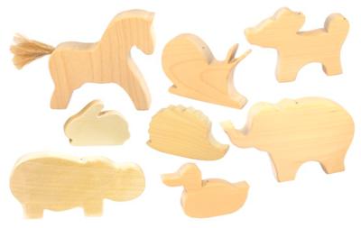 Животные 8 шт для росписи, Сказки Дерева
