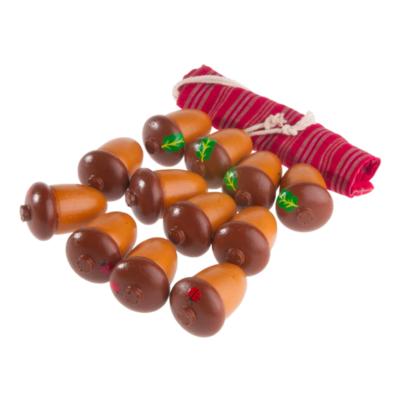 Счетный материал 12 желудей в льняном мешочке, Леснушки